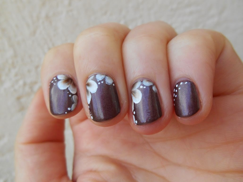 Nail art marron