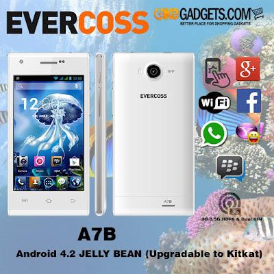 Harga dan Spesifikasi Evercoss A7B Terbaru
