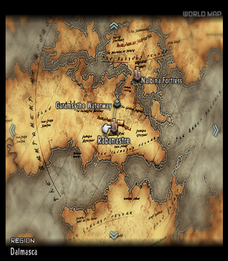 Final Fantasy XII PAL world map