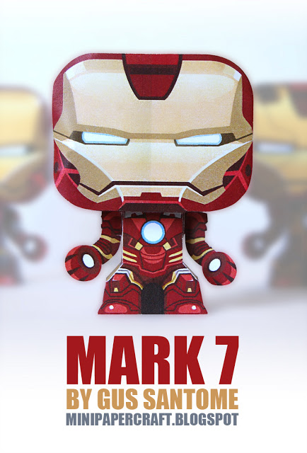 Mini iron man mark 7 papercraft papercraft paradise - Mini iron man ...