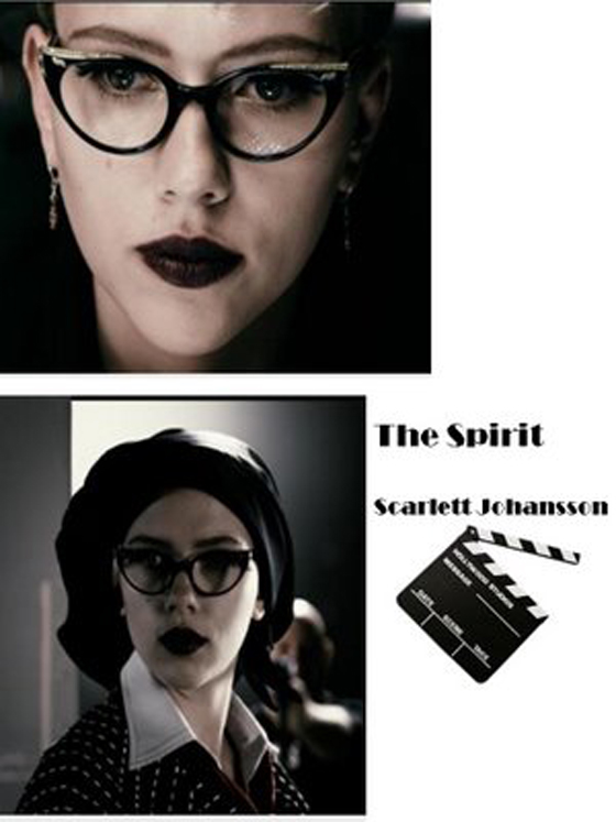 Scarlett Johanson The spirit - gafas ojos de gato