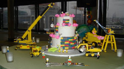 Charm City Cakes's Lego Construction Wedding Cake