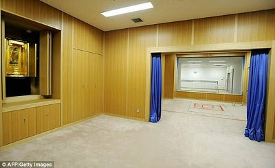 Execution chamber at Tokyo's Detention Center