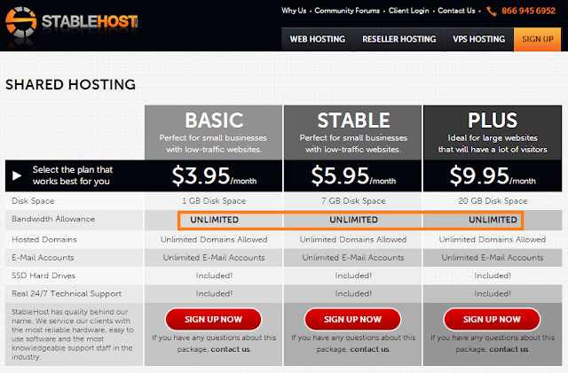 Coupon stablehost