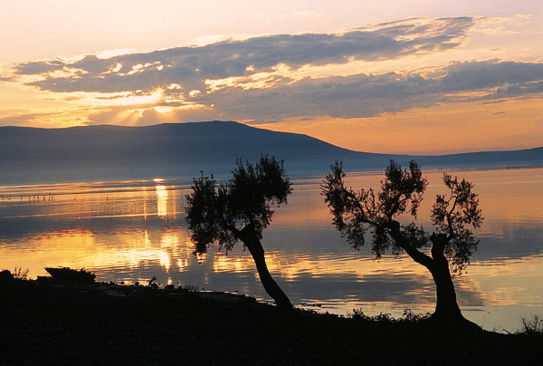 Tramonto sul lago di Varano - Gargano