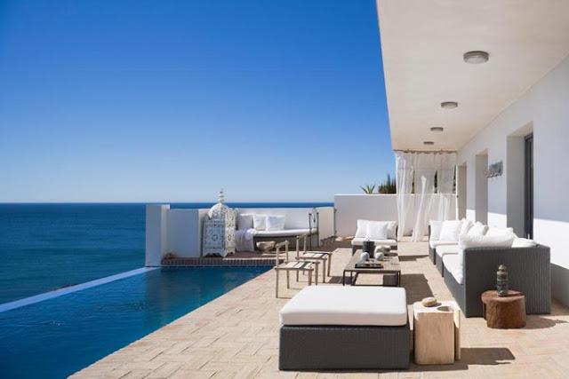 piscina infinita en terraza