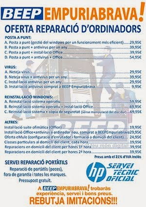 PREUS REPARACIÓ ORDINADORS