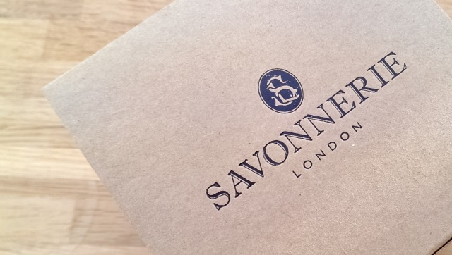 Beautiful embossing on the Savonnerie packaging