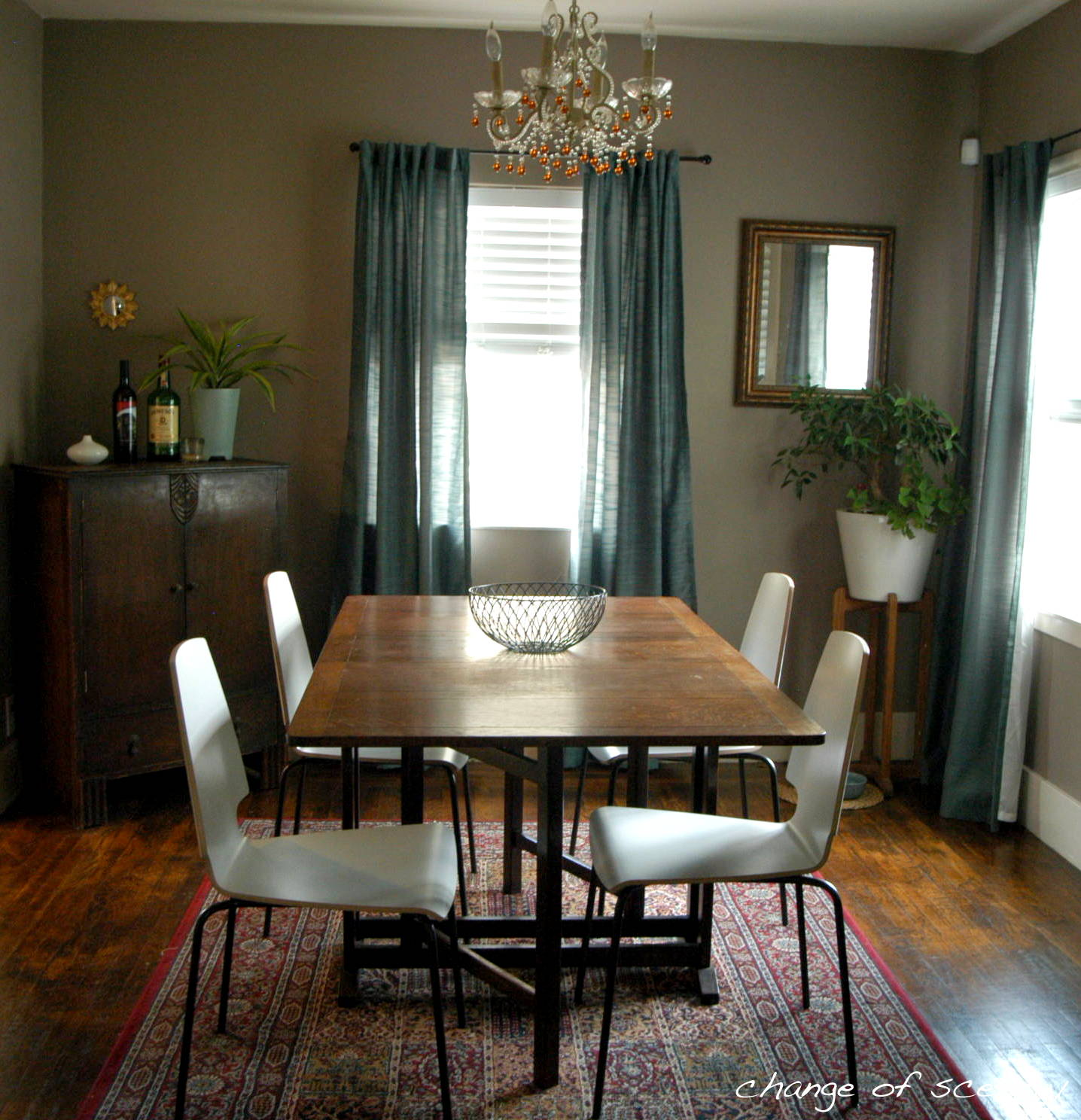 change of scenery dining room colored chairs