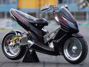 Modif Honda Vario Street Fighter