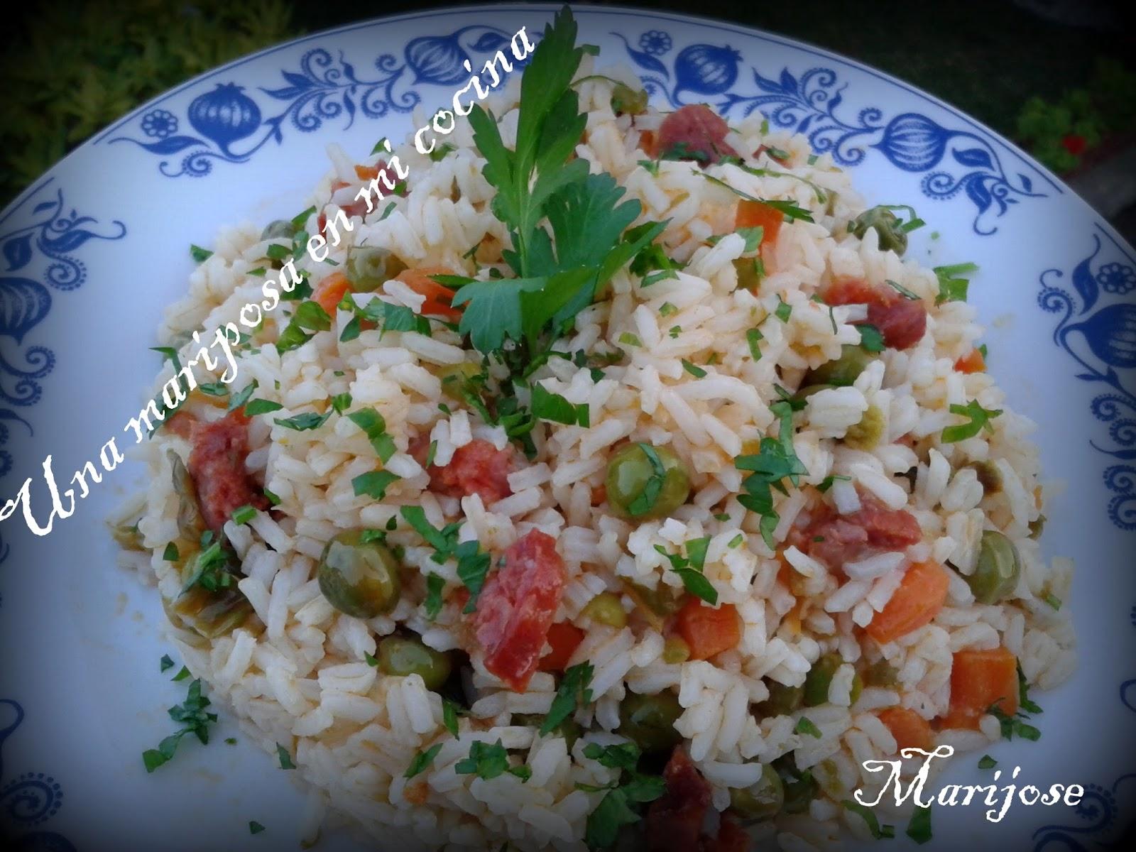 Una mariposa en mi cocina salteado de arroz con verduras - Salteado de arroz ...