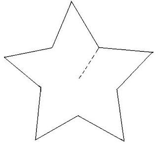 Estrela de natal feita de papelão