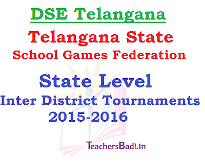 TSGF,State Level Inter District Tournaments