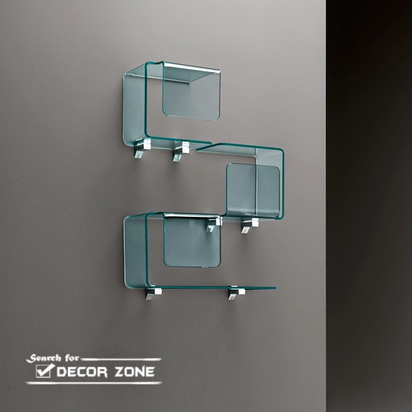glass shelves for wall decorations