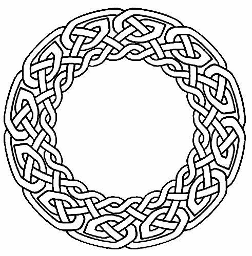 Celtic wreath knots circle tattoo stencil