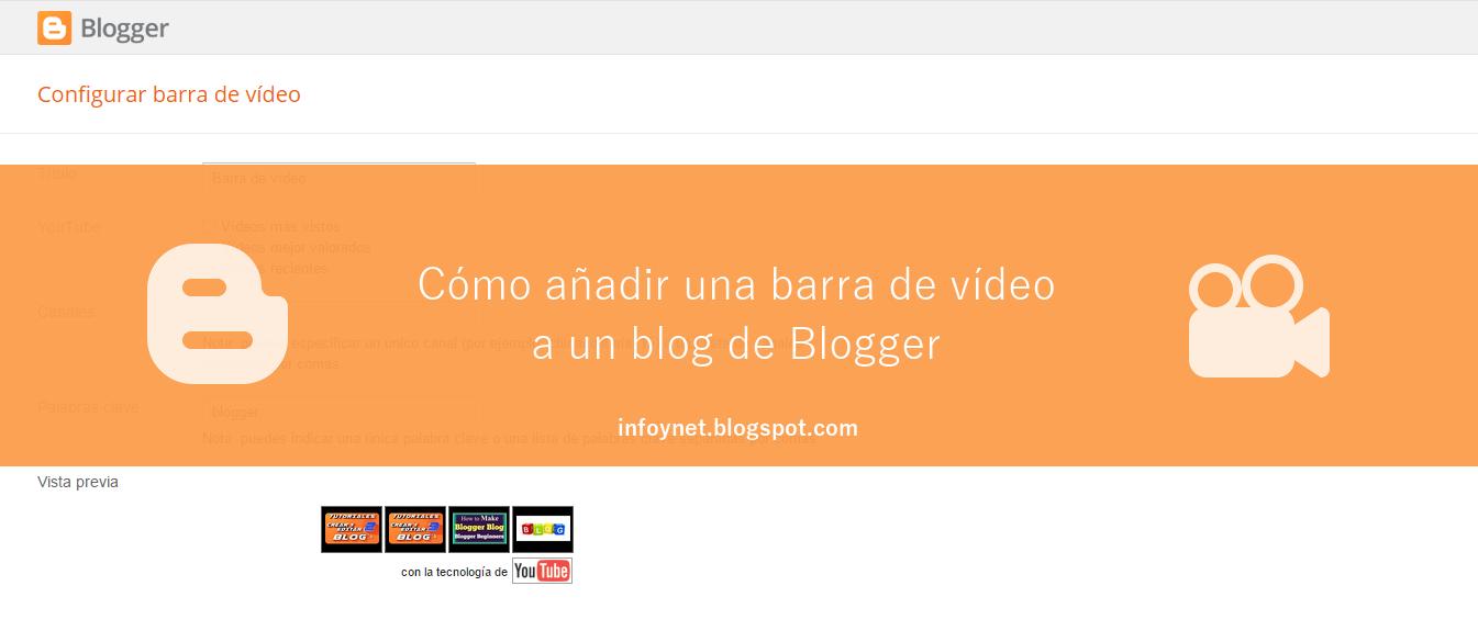 InfoNet: Añadir una barra de vídeo a un blog de Blogger