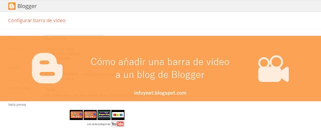 Cómo añadir una barra de vídeo a un blog de Blogger