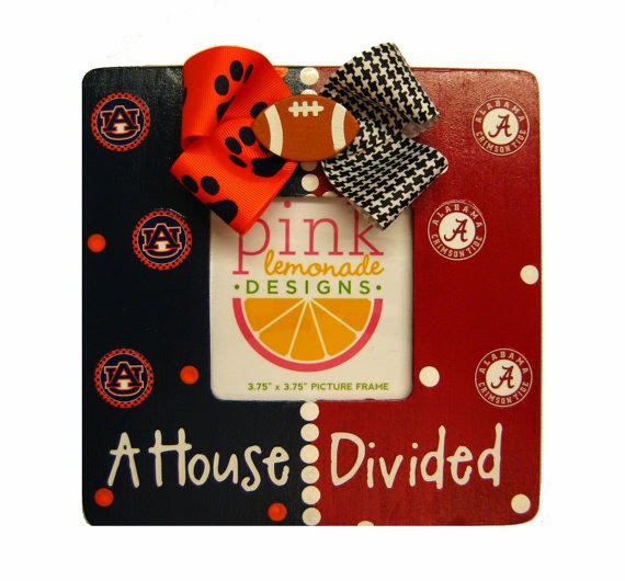 Auburn Tigers/Alabama Crimson Tide NCAA A House Divided Picture Frame