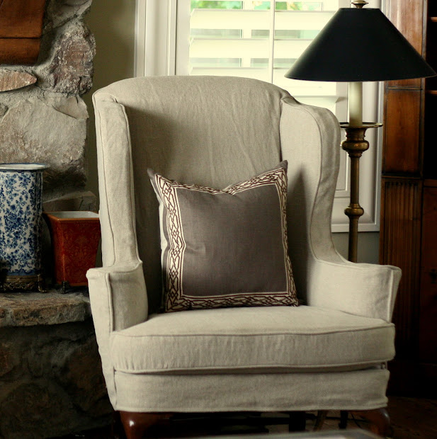 White Wingback Chair Slipcovers