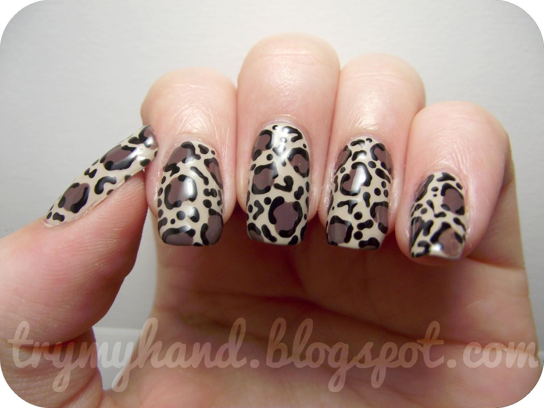 My Hand: 15 Day Nail Challenge (Day 8) : Leopard Print + BONUS Photos