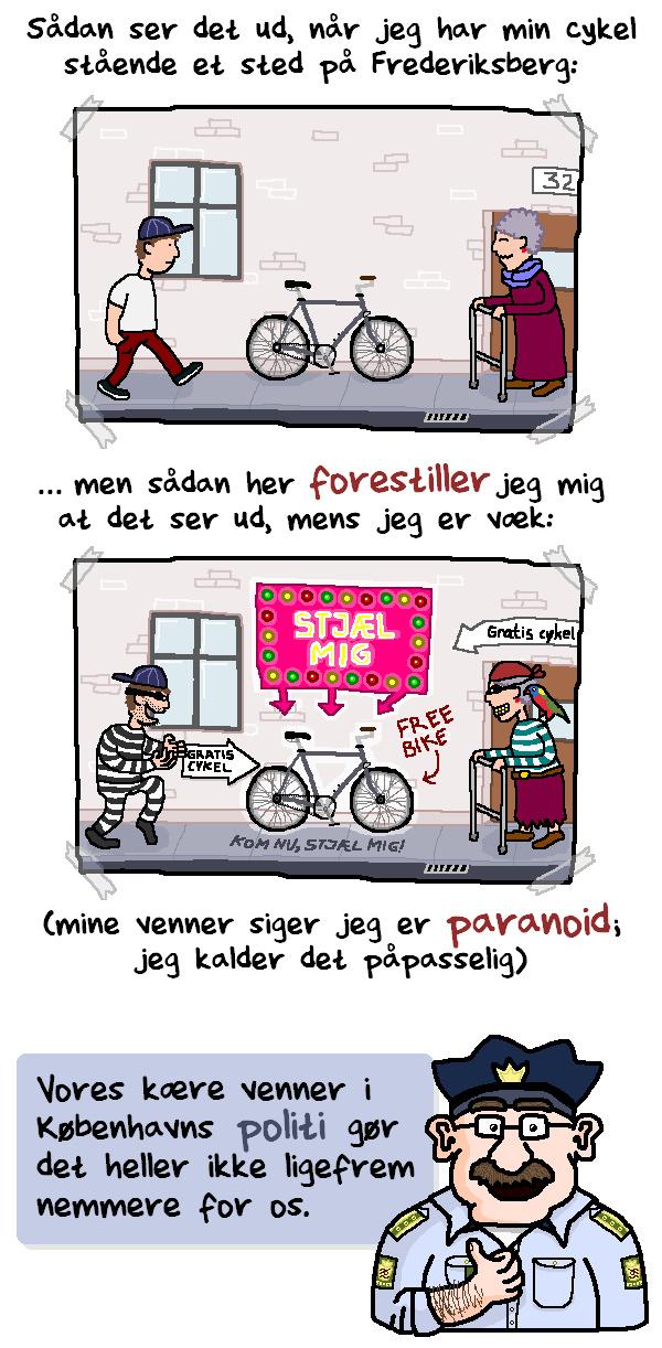 På cykel i København