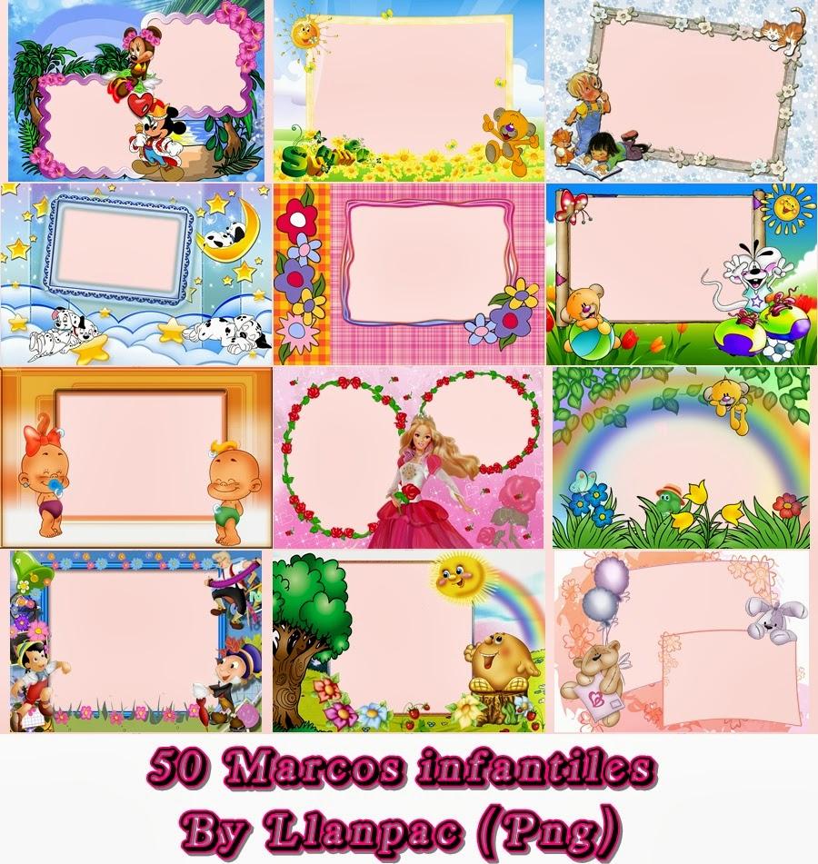 Photoshop Llanpac: 50 marcos infantiles para Fotomontajes (Png
