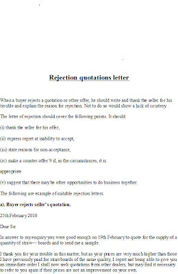 Business Quotation Letter Example