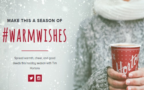 Tim Hortons #WarmWishes Contest