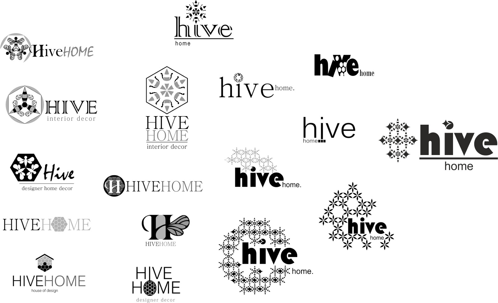 Zinia Jc Hive Logo Stationary Folder Design
