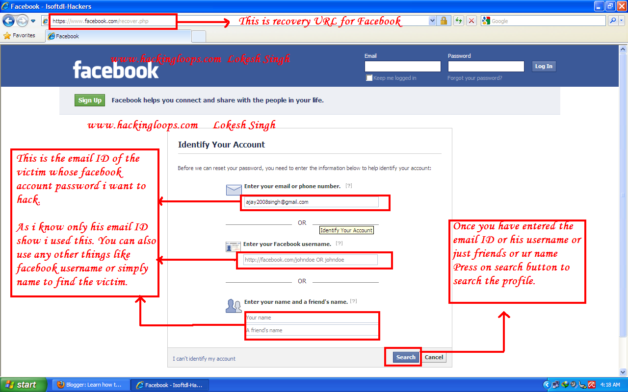 How Hack Facebook Account Password Hackingloops Learn