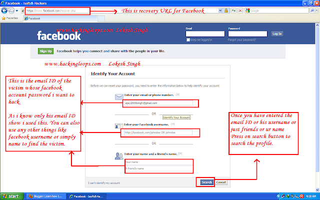 Learn How to hack Facebook account password