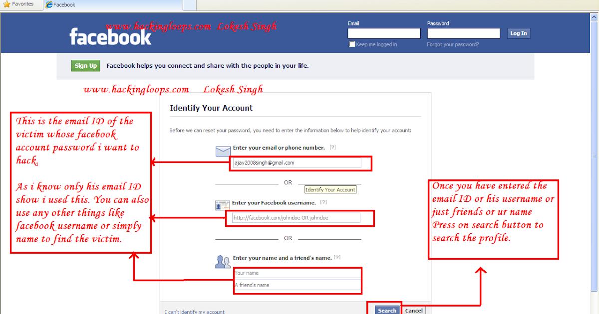 Free Online Facebook Password Email Hacker | No Download ...