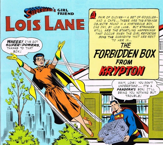 Superman's Girlfriend Lois Lane in The Forbidden Box from Krypton: Splash page