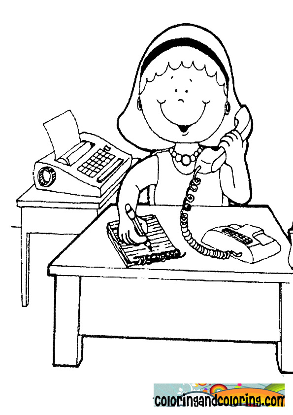 coloring pages of secretaries - photo#1