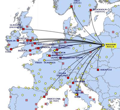 Viajar a Polonia - Varsovia Modlin Ryanair