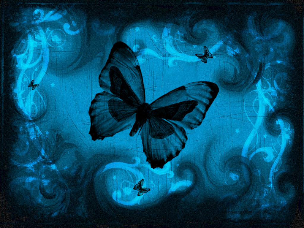 butterfly blue abstract wallpaper - photo #28