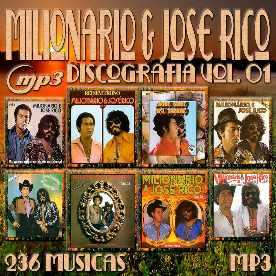 CAPA CD - MILIONÁRIO E JOSÉ RICO DISCOGRAFIA VOL.01 MP3