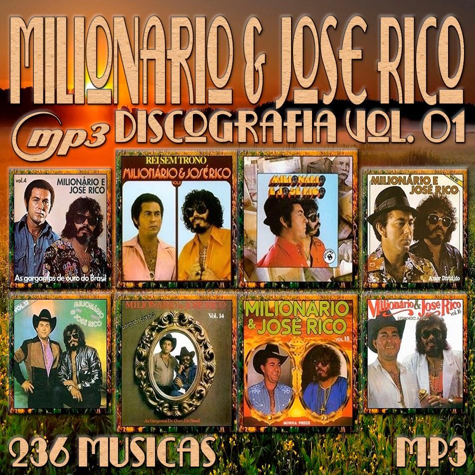 CAPA CD - MILIONÁRIO E JOSÉ RICO DISCOGRAFIA VOL.01 MP3
