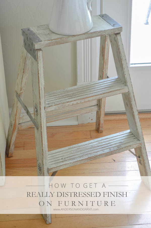 How to create distressed finish on furniture tutorial from anderson and grant