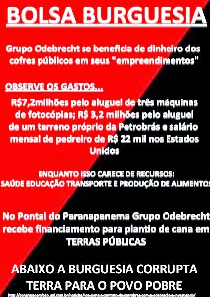 BOLSA BURGUESIA BENEFICIA GRUPO ODEBRECHT