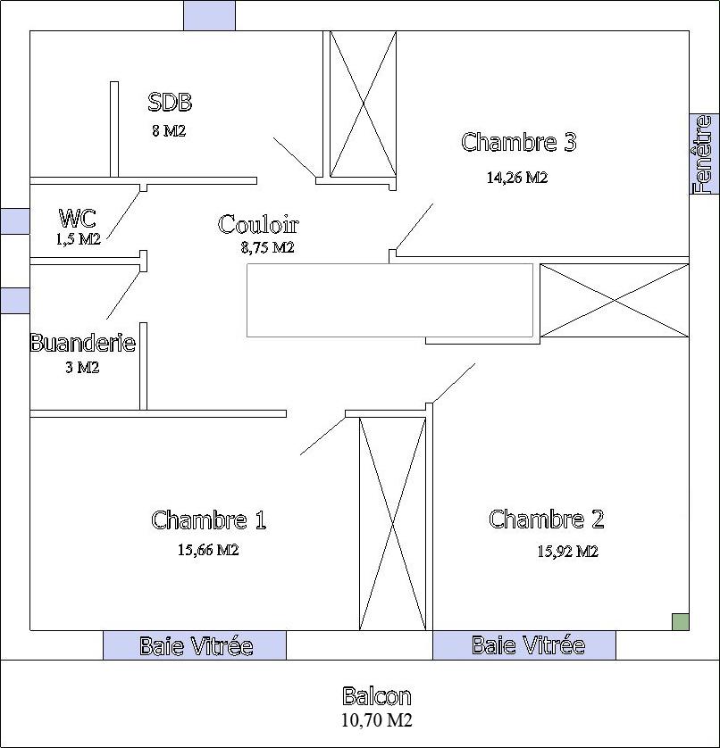 Plan maison 80m2 avec tage for Plan maison 80m2
