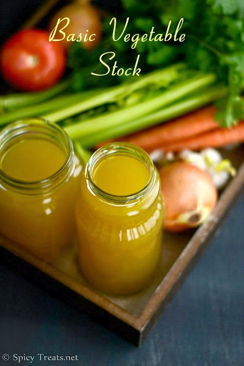 : Homemade Vegetable Stock Recipe | Basic Vegetable Stock or Broth ...