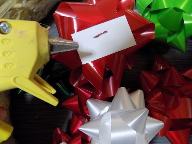 DIY Holiday Gift Bow Wreath Tutorial - Super Simple $6 Craft One Savvy Mom onesavvymom blog nyc