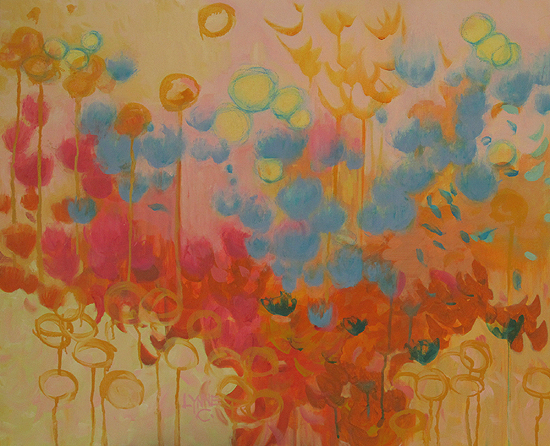 Daily painters abstract gallery floral chroma mixed for Chroma mural paint
