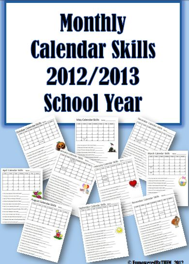 April Calendar Questions : Empowered by them monthly calendar skills