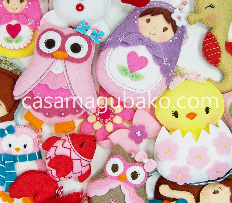 Felt Matryoshka and Owl by casamagubako.com