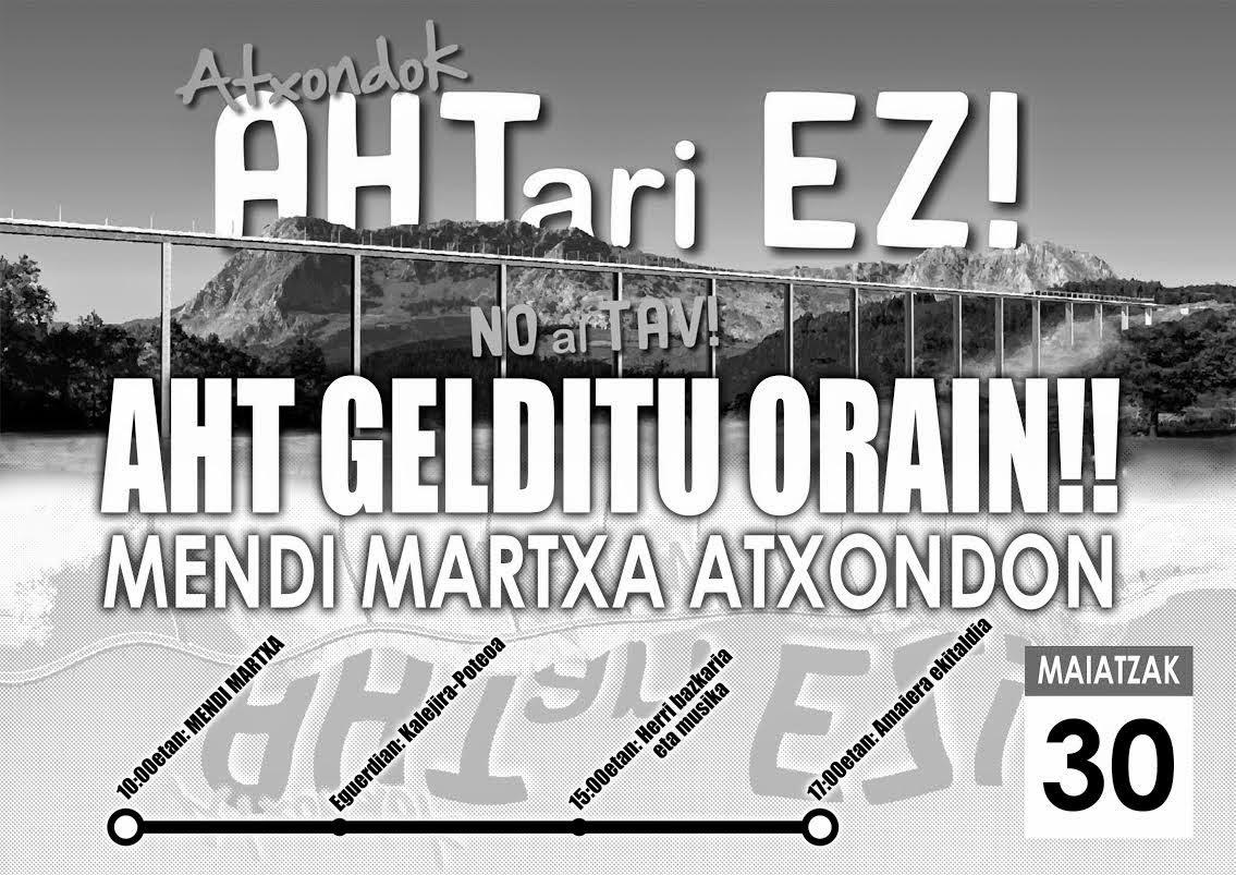 Mendi Martxa Atxondon AHTren aurka