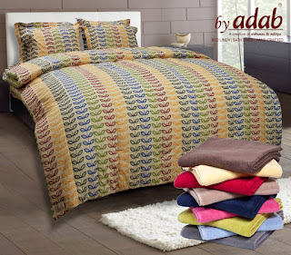 Explore a large range of colorful and designer bath and bed linen.