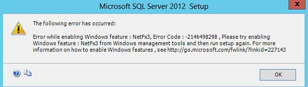 Error installing SQL Server