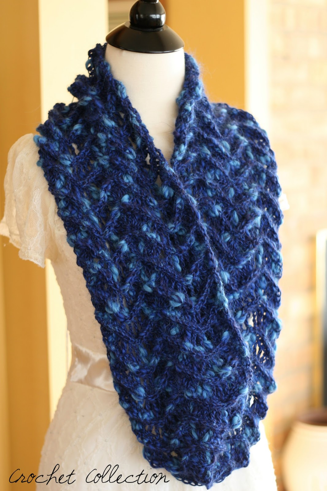 Crochet Infinity Scarf : ... Available for Pre-Order: Genevieve Infinity Scarf ~ Crochet Collection